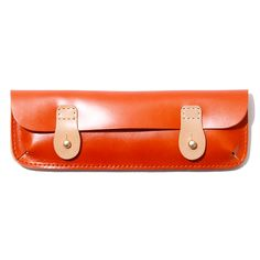 Hobo pencil case in Leather •