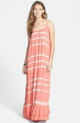 Rip Curl 'Beach Dreamer' Tie Dye Maxi Dress (Juniors)
