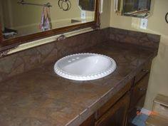 broken tile countertop remodel