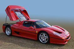 Ferrari F50 rare Italian speed and beauty seen at the Desert Concorso, Palm Springs California