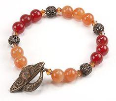 Jewelry Making Idea: Spiced Apple Bracelet (eebeads.com)