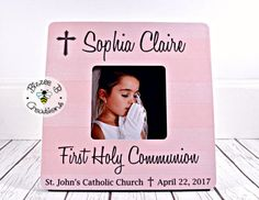 ON SALE First Holy Communion Picture Frame Gift for First