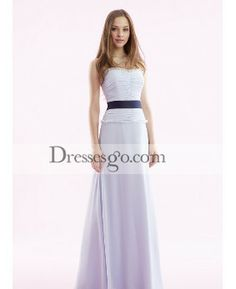 ad471ded30 Strapless Zipper-Up Floor-Length Women s Evening Dresses White Bridesmaid  Dresses