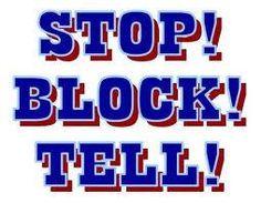 stop block tell - Google Search