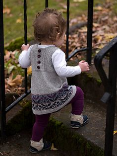 Love the colorwork and the buttons on the back of this sweet jumper!