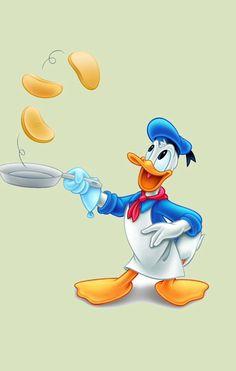 Just in time for breakfast –Donald Duck making flapjacks! Mmmmmmm pancakes…
