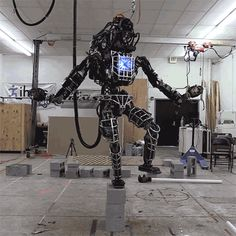 The robo karate kid! Terrifying two legged giant robot being developed by Google learns to stand on one leg - and recreates scene from cult film | Daily Mail Online
