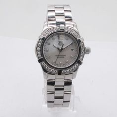 TAG Heuer Aqua Racer Stainless Steel Ladies Watch / W MOP Diamond dial