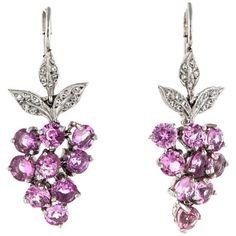 Cathy Waterman 5.50ctw Pink Sapphire and Diamond Earrings