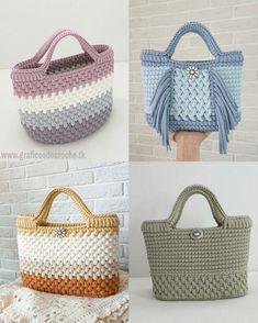 Free Crochet Bag Patterns Part 16 Free Crochet Bag, Diy Crochet, Crochet Handbags, Crochet Purses, Crochet Dishcloths, Crochet Stitches, Crochet Designs, Crochet Patterns, Bag Patterns