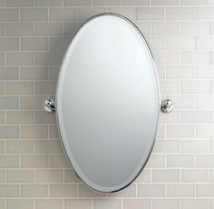 "Bathroom Pivot Mirror beach house vintage rectangular pivot mirror 18"" x 24"" in polished"