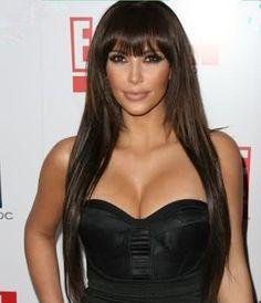 Kim Kardashian Haircut Virgin Brazilian Hair Straight Wig Glueless Full Lace Human Hair Wigs with Bang Natural straight hair wig