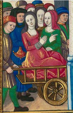 Titre : « Le Livre des faiz monseigneur saint Loys », composé à la requête du « cardinal de Bourbon » et de la « duchesse de Bourbonnois ».  Date d'édition : 1401-1500  Français 2829 folio 126r