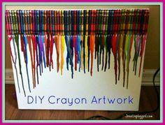 DIY Crayon Artwork