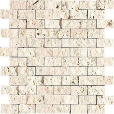 white tumbled travertine tiles
