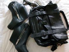 Black! [Bag, Boots & Glasses]