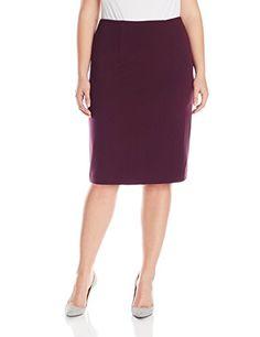 0b6085411e Ellen Tracy Women s Plus-Size High Waist Pencil Skirt Skirt Fashion