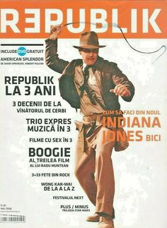 Romanian film magazine REPUBLIK, Harrison Ford on cover + page 5 article, 2008 Harrison Ford, Cover Pages, Indiana, Magazines, Books, Ebay, Movie, Journals, Libros