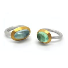 Mark Nuell - Gold Sapphire Rings - ORRO Contemporary Jewellery Glasgow