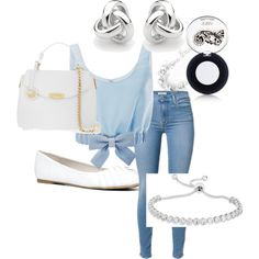 A fashion look from October 2015 featuring ribbon shirt, denim skinny jeans and aldo flats. Browse and shop related looks. Ribbon Shirt, Denim Skinny Jeans, Aldo, Versace, Polyvore Fashion, Cinderella, Fashion Looks, Cosmetics, My Style
