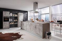 Hochwertig Extravagante Küche Mit Kochinsel Im Landhaus Stil