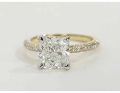 3 Carat Diamond Trio Micropavé Diamond Engagement Ring | Blue Nile Engagement and Wedding Rings