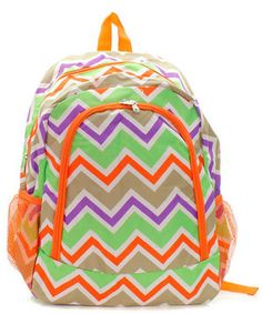 Personalized  Girls CHEVRON Backpack   CHEVRON by kozykidzboutique, $29.95