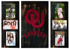 University of Oklahoma Sooners Photo Frame Set 3pc Wooden Picture Frame