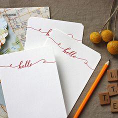 """Hello"" notecard"