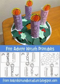 Kids Advent Wreath, Advent For Kids, Crafts For Kids, Advent Ideas, Kids Advent Crafts, Catholic Advent Wreath, Preschool Christmas, Christmas Activities, Kids Christmas