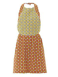 See by Chloé | Geometric floral pinafore dress