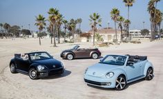 Volkswagen Reveals 1950s, '60s, and '70s Special-Edition Beetle Convertibles