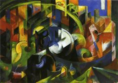 """artist-marc: """"Picture with Cattle via Franz Marc Size: 92x130.8 cm Medium: oil on canvas"""""""