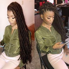 This item is Faux Locs Crochet Straight Hair, 20 inches length, 9 Colors are available. Faux Locs Hairstyles, African Braids Hairstyles, Straight Hairstyles, Girl Hairstyles, Black Girl Braids, Girls Braids, Twists, Crochet Straight Hair, Faux Locs Long