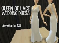 My Sims 4 Blog: TS3 to TS4 - Queen of Lace Wedding Dress for Teen ...