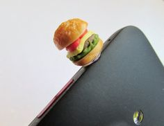 Cheeseburger Dust Plug Hamburger Dust Plug by OneUglyUnicorn, $3.50 #thisisepic