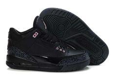 best loved fa1d5 0897d Sale Air Jordan 3 Retro Womens All Black For Sale Cheap Air Jordan Iii, Nike