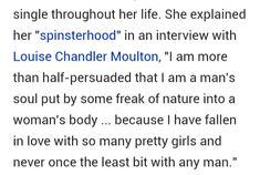 Louisa Alcott interview.