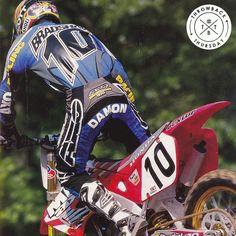 Damon Bradshaw in one of our old ads from the 90's! #axoracing #tbt #throwbackthursday