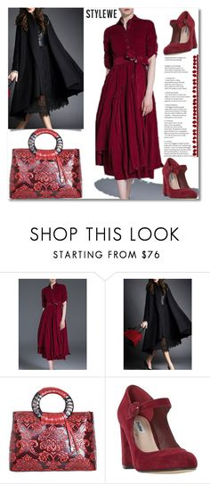 """""""Burgundy"""" by andrea2andare ❤ liked on Polyvore featuring Dune, NYFW and layers"""