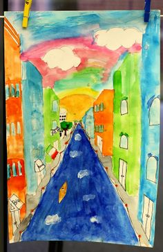 smART Class-- Italy one-point perspective lesson Perfect for parallel, perpendicular, intersecting lines.