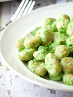 gnocci with creamy spinach sauce 5