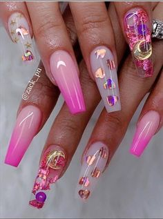 nails nails art nails ideas nails designs # coffin nails are bold and stylish of coffin nails nails show your manicure # best coffin nail idea and magnify your existing nail polish ideas. Acrylic Nail Designs Coffin, Pink Acrylic Nails, Glitter Nail Art, Nail Swag, Valentine's Day Nail Designs, Nails Design, Coffin Nails Long, Pink Coffin, Bling Nails