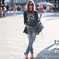 Jeans Tee Coat Belt