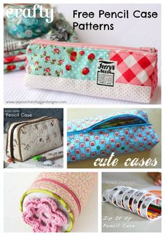 Free Pencil case patterns and tutorials