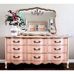 Pending French Provincial 9 Drawer Dresser and Mirror Set #affiliate