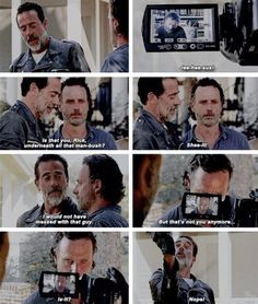 "Season 7,Ep. 4 - ""Service"" Rick (Andrew Lincoln) and Negan (Jeffrey Dean Morgan)"