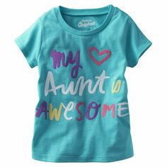 OshKosh Originals Graphic Tee. She shouts out her awesome aunt in this adorable tee that's perfect for play dates or family gatherings.