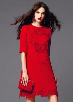 Dolce   Gabbana Abbigliamento Donna Estate 2015 Moda Rosso 8c293579f84