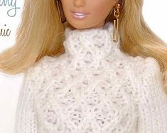 Knitting pattern for 11 1/2 doll Barbie: Textured
